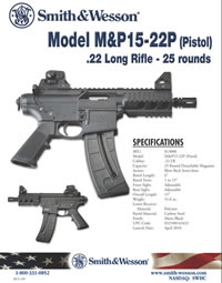Smith & Wesson M&P 15-22P Pistol .22lr